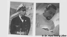 Rechts ist Dr. Hans Löber, links sein Sohn, Dr Hans Georg Löber. Es geht um sein Vater, Dr Hans Löber. Als Marinearzt hat er im 2. Weltkrieg auf der griechischen Insel Milos das Leben von vielen Griechen gerettet. Quelle: Dr Hans Georg Löber