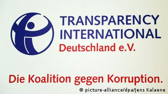 Logo von Transparency International Deutschland e.V (picture-alliance/dpa/Jens Kalaene)