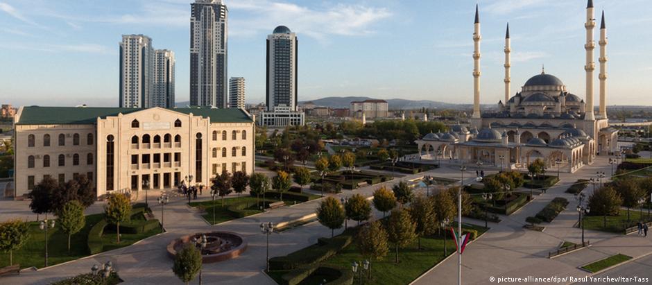 Grózni, capital da Chechênia: república russa é predominantemente muçulmana