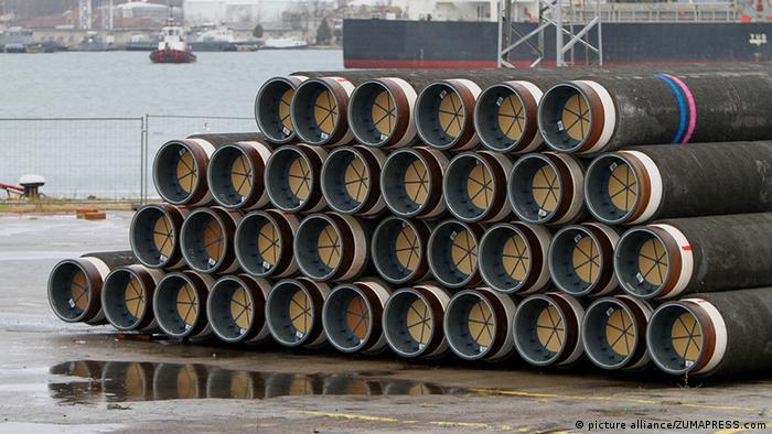 Трубы для Южного потока в порту Варны