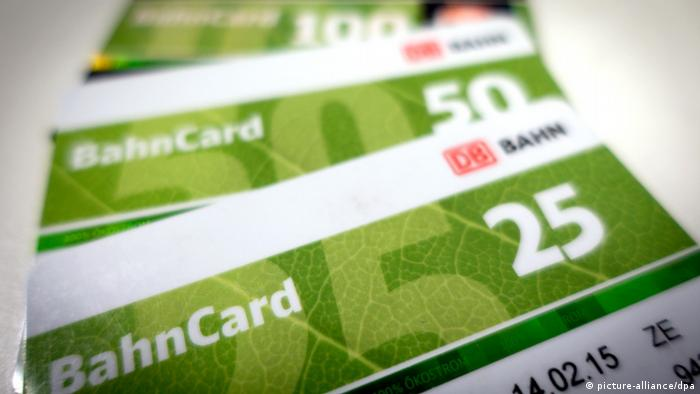 Symbolbild - BahnCard (picture-alliance/dpa)