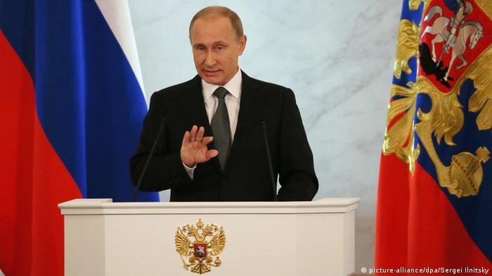 Володимир Путін розпочав своє послання до Федеральних Зборів з подій в Україні