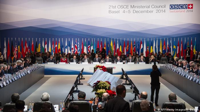 Plenum der OSZE Außenminister-Konferenz in Basel (Foto: AFP/Getty Images)
