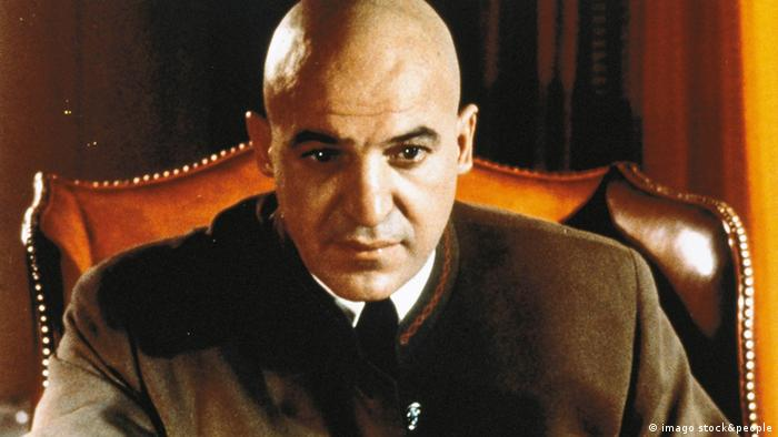 Telly Savalas as Dr. Blofeld in On Her Majesty's Service.