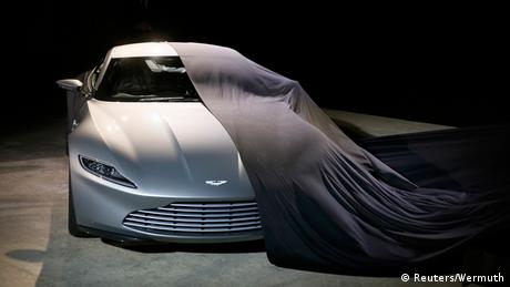 An Aston Martin DB10 unveiled at the start of the production of Spectre in 2014