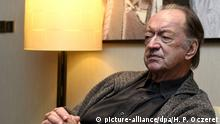 epa04474330 A picture made available on 03 November 2014 shows Austrian conductor Nikolaus Harnoncourt during during an interview in Vienna, Austria, 02 November 2014. Lang Lang and Austrian conductor Nikolaus Harnoncourt have worked together on an album called 'The Mozart Album'. Harnoncourt will celebrate his 85th birthday on 06 December. EPA/HERBERT P. OCZERET