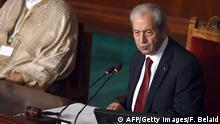 The new president of the Tunisian Assembly Mohamed Ennaceur (R) gives his first speech during a plenary session on December 4, 2014 in Tunis. Ennaceur, 80, of anti-Islamist party Nidaa Tounes, served as social affairs minister under Habib Bourguiba, Tunisia's 'father of independence', during the 1970s and 1980s. AFP PHOTO / FETHI BELAID (Photo credit should read FETHI BELAID/AFP/Getty Images)