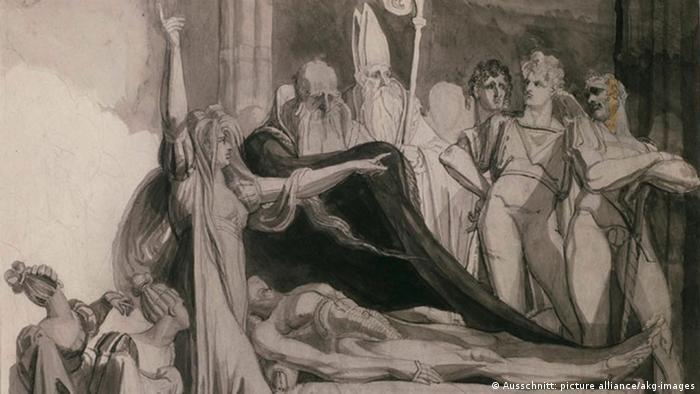Рисунок Иоганна Генриха Фюссли (Johann Heinrich Füssli , 1741-1825)