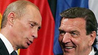 Schröder and Putin in 2005