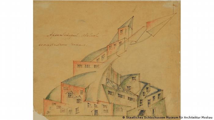Николай Ладовский, проект дома-коммуны, 1920 г.