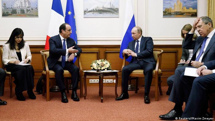 Встреча президентов Франции и России