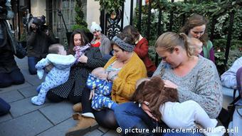 Mütter protestieren in London