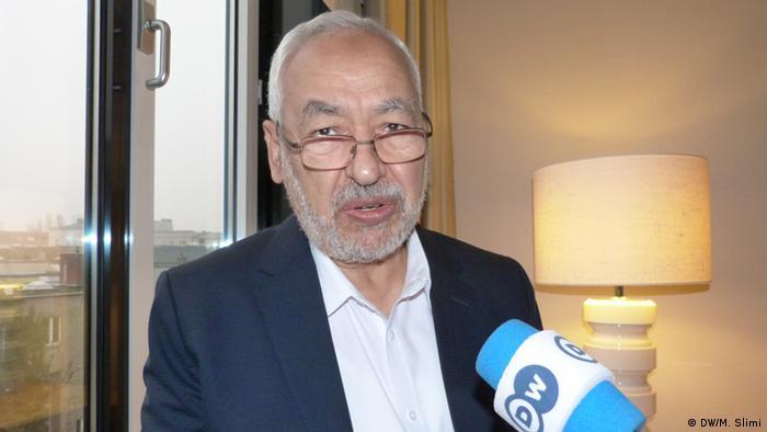 Porträt von Rached Al-Ghannouchi tunesischer Politiker Vorsitzender der Ennahda Partei