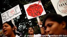 Symbolbild Protest gegen Vergewaltigungen in Indien