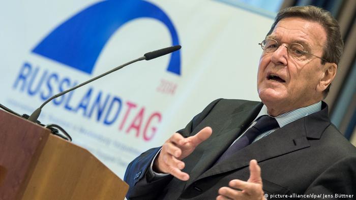 Герхард Шрёдер 1 октября 2014 года на форуме День России в Ростоке