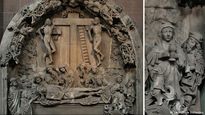 Барельеф Положение Христа во гроб