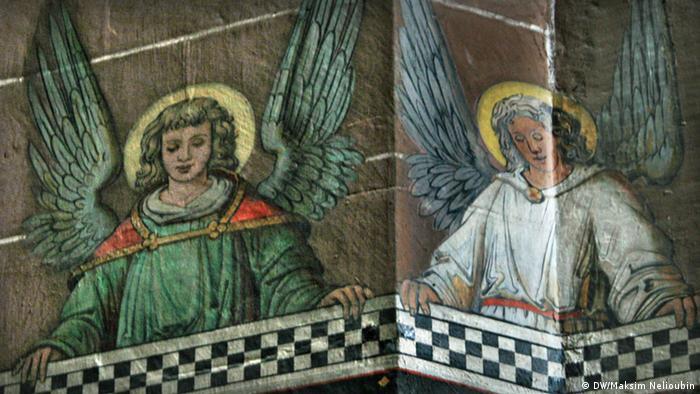 Фрески на одной из колонн в Вормсском соборе