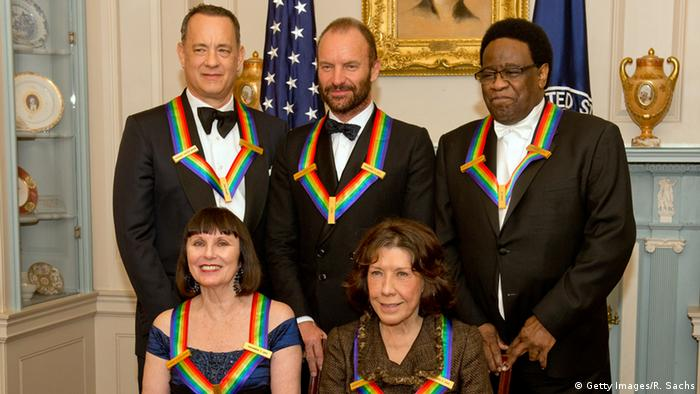 The five winners of the 2014 Kennedy Center Honors pose together