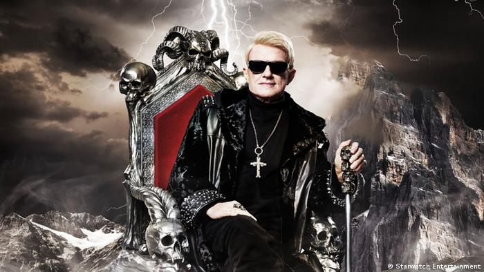 Heino on a throne (Starwatch Entertainment)