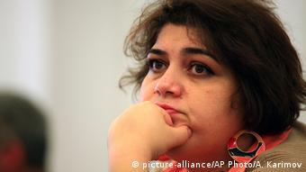 Хадиджа Исмаилова, журналистка из Баку, известная своей критикой властей Азербайджана