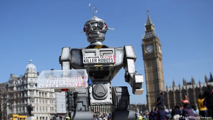 London Aktion Campaign to Stop Killer Robots 2013
