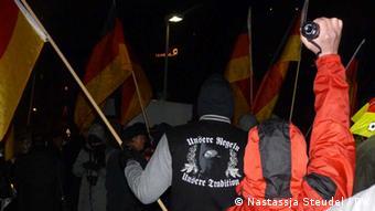 Dügida-Kundgebung in Düsseldorf (Foto: Nastassja Steudel/DW)