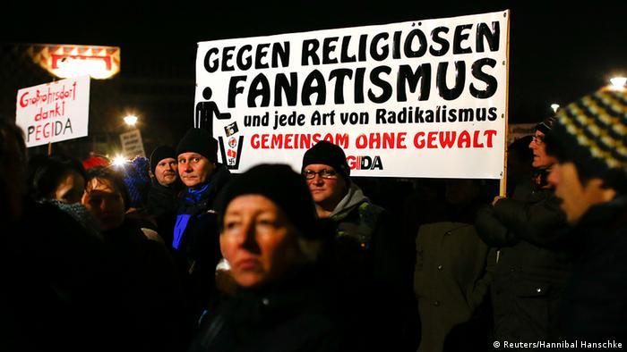 Deutschland PEGIDA Dresden 8.12.