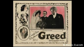 Poster from the 1924 German silent film Greed, Copyright: Morris Everett