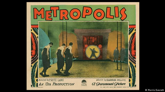 Metropolis film poster from the 1927 silent film, Germany's most expensive film in history, Copyright: Morris Everett