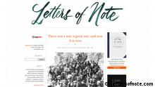 www.lettersofnote.com (Screenshot); Copyright: lettersofnote.com