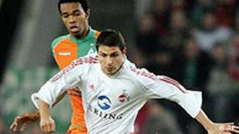 Naldo em 2005, com a camisa do Bremen: primeira temporada