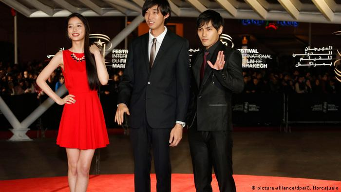 Yoshikura Aoi, Kanai Junichi, Yagira Yuya beim Marrakesch Film Festival