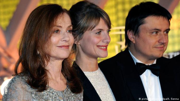 Isabelle Huppert, Melanie Laurent, Cristian Mungiu beim Marrakesch Film Festival