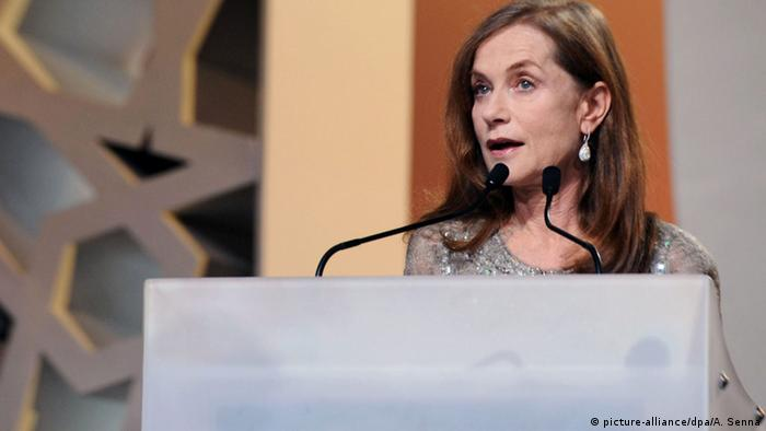Isabelle Huppert beim Marrakesch Film Festival