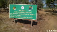 Eingang zum mosambikanischen Naturpark Reserva Nacional do Niassa