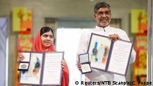 Friedensnobelpreis Verleihung Malala und Satyarthi 10.12.2014 Oslo