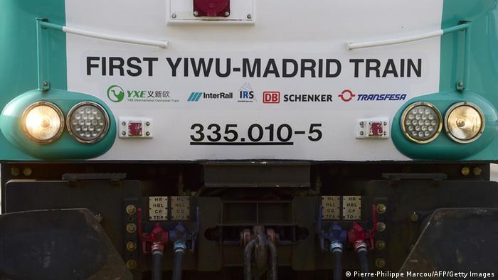 Ankunft in Madrid: Güterzug aus Yiwu China Güterzug 09.12.2014