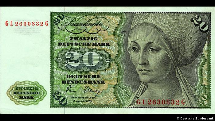 20 марок ФРГ образца 1960 года