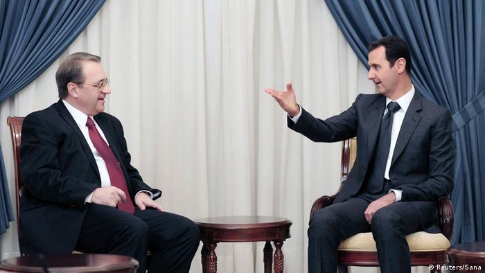 Syrien Assad und Bogdanow (Reuters/Sana)