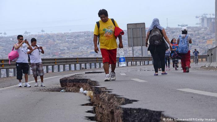 Şili'de 2014 yılındaki 8,2 büyüklüğündeki depremde altı kişi hayatını kaybetti.