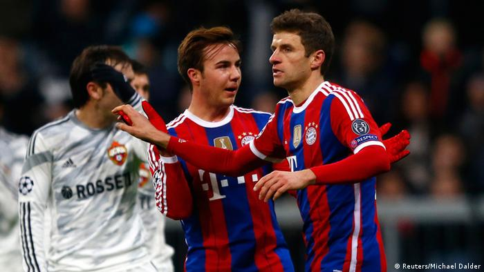 Bayern players celebrate