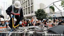 Hongkong China Protest Barrikaden