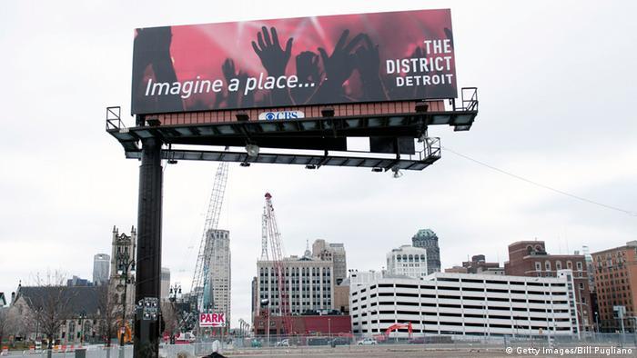 USA Detroit nach der Insolvenz Aufbau Detroit blüht auf