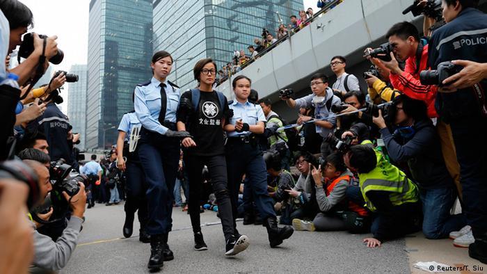 Hongkong Protest Festnahmen 11.12.2014