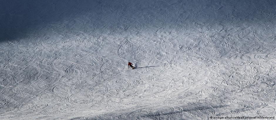 Pista de esqui na Zugspitze