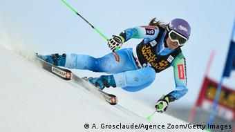 Tina Maze bei Riesenslalom in Are. Foto: Getty Images
