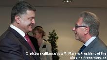 Petro Poroschenko mit Gianni Buquicchio Juni 2014