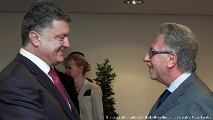 Президент України Петро Порошенко (л) та президент Венеціанської комісії Джанні Букіккіо (фото з архіву)