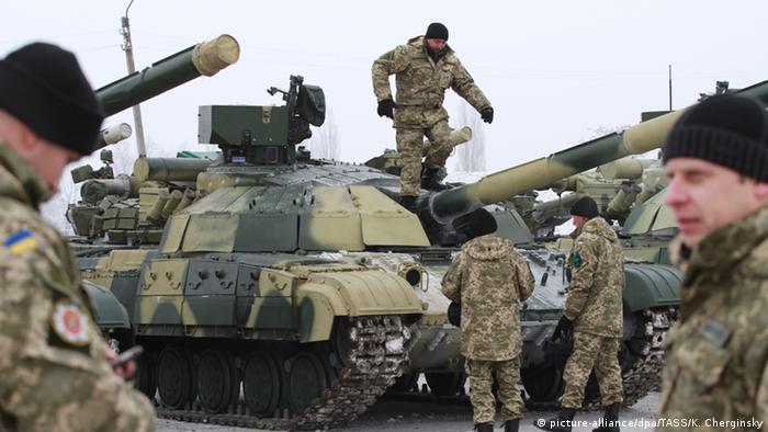 Ukrainian troops on tanks Photo: Konstantin Cherginsky/TASS
