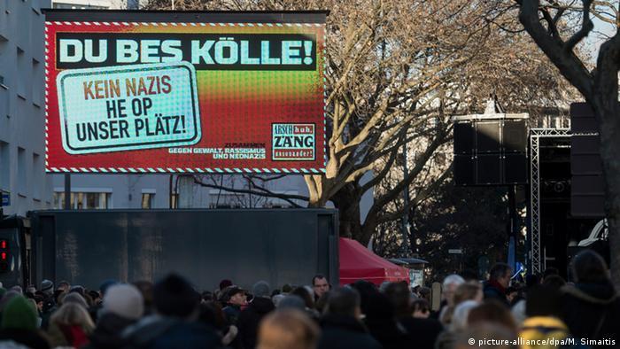 Demonstration gegen Rechtsradikale in Köln